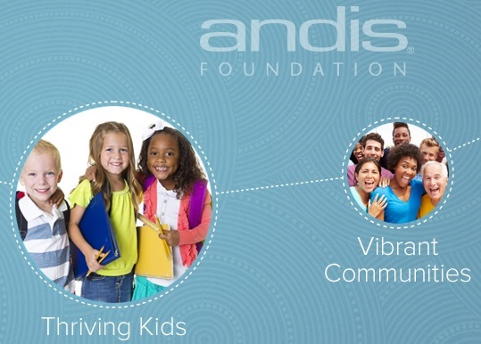 The Andis Foundation Home Page Banner States That Strong Families And Thriving Kids Lead To Vibrant Communities.